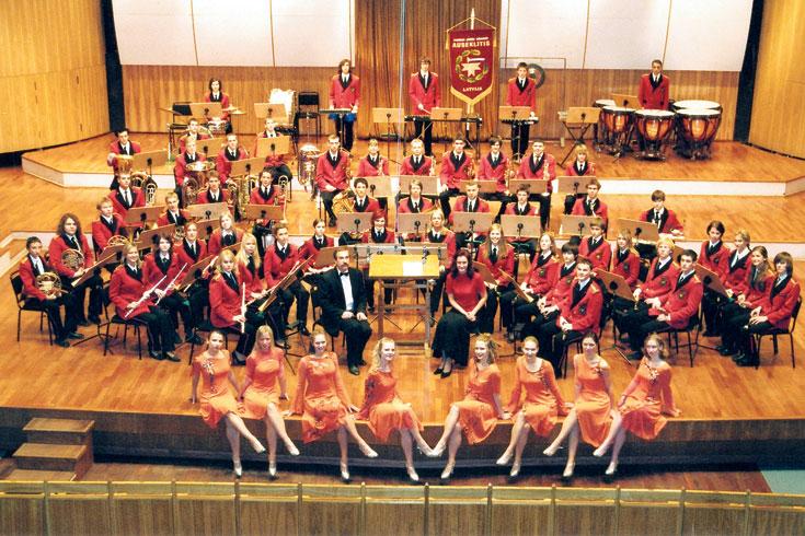 """Νεανική Ορχήστρα Πνευστών Αουσεκλίτης """"Πρωινό Άστρο"""", Λετονία"""